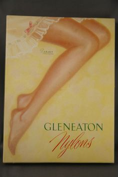 Vintage Seamed Nylon Stockings Cuban Heel Size 11 Long 2 1/2 Pair In Box