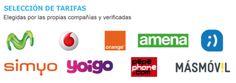 Comparativa de las tarifas de solo móvil más competitivas elegidas por las propias operadoras. Pepephone destaca por su claridad y las grandes con red por sus franquicias