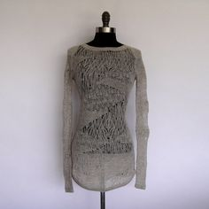 Helmut Lang Light Weight Grey Sweater Size P Excellent Condition | eBay