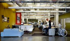 09 Facebook Interior - Office Space Design With Comfortable Rocking Chair