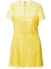 Valentino - yellow lace dress #genteroma