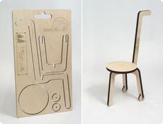 Flat-packed chair