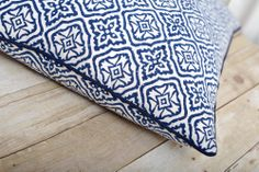 Indian block print quilts, cushions & table linens in a range of vibrant, coastal-inspired colors. Traditional designs with a touch of modern style. Indian Block Print, Glazed Tiles, Indian Textiles, Cushion Inserts, Printed Cushions, Table Linens, Traditional Design, Slipcovers, Throw Pillows