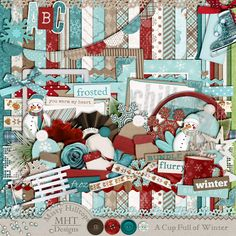 A Cupful of Winter, freebie by Misty Hilltops Designs, Freebie Friday, digital scrapbooking kit Use the site's search feature and type in the kit's name to find all 5 parts of this freebie collection