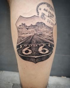 Car Tattoos, Biker Tattoos, Music Tattoos, Body Tattoos, Tattoos For Guys, Route 66, Skull Sleeve Tattoos, Forearm Sleeve Tattoos, Arizona Tattoo