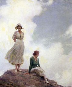 """""""The Boulder"""", ca. 1915, by Charles Courtney Curran (American, 1861-1942)"""