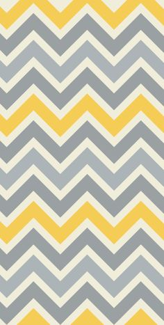 Stylish removable wallpaper - chevron gray & yellow // #pattern