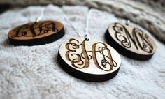 Groupon - Custom Etched Monogrammed Wood Oval Necklace from LilyDeal.com  in Online Deal. Groupon deal price: $14.99