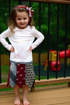 So adorable! Dress from men's ties. Love it. by marsha