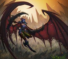 ArtStation - Night elf Demon hunter, J.B. Van Harmontt