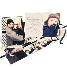 Photo Christmas Cards  -- Thread The Ribbon Booklet. Give friends and family a package all tied up with love.
