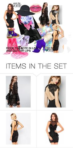 """""""ROCK THE VOTE IN LBD AND GLITTER LIPS"""" by m-kints on Polyvore featuring картины"""