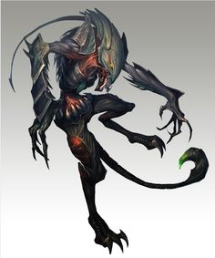 """Non Human Being-Monster-Hybrid-Animal-Beast-Claws-Paws-Obscure. Find more on the """"Creativity+Fantasy"""" board. Monster Concept Art, Alien Concept, Monster Art, Alien Creatures, Magical Creatures, Creature Feature, Creature Design, Dark Fantasy, Fantasy Art"""