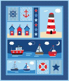 Panel- 20015-42  By The Sea,                    By Deborah Edwards   Northcott Studio                                                                                                                                      Coming to stores in February, 2013