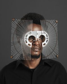 Self-taught Kenyan artist Cyrus Kabiru (previously) fashions extravagant eyewear from pieces of found metal and other salvaged materials on the streets of his hometown of Nairobi. Kabiru has been building his futuristic glasses since childhood, and dedica Afro, Tom Und Jerry, Kenyan Artists, Art Africain, Colossal Art, Black Power, Schmuck Design, Headgear, Mask Design