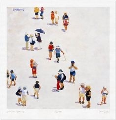 Tourists 23 - Limited Edition Giclee Art Print - Print Only Tourists 23 art print by Lin Pattullo