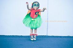 Robin Super Hero Tutu Costume inspired by Batman by KirrasBoutique