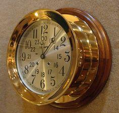 "Chelsea 8.5"" Ship's Bell Clock, U. S. Navy, Circa 1948."
