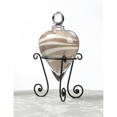 Heart Shaped Unity Sand Vase : Wedded Glitz : Crystal, Rhinestone, and Couture Wedding Accessories