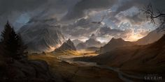 Skyrim - Whiterun Hold, Michal Kus on ArtStation at http://www.artstation.com/artwork/skyrim-whiterun-hold