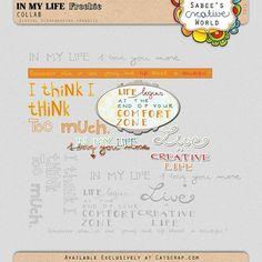In My Life word art freebie from Sabee's Creative World #digiscrap #scrapbooking #digifree #scrap #freebie #scrapbook