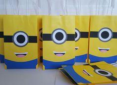 Minion treat bag minion goody bag minion favor bag by CuddleCute