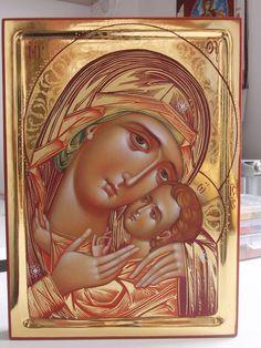 Petrovska ikona Bogomajke, Icon of Petrovska Theotokos Byzantine Icons, Byzantine Art, Russian Icons, Russian Art, Religious Icons, Religious Art, Christian Artwork, Religious Paintings, Learn Art