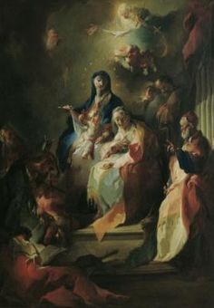 Franz Anton Maulbertsch, Die Heilige Sippe, um 1755, Öl auf Leinwand, 127 x 90 cm, Belvedere, Wien, Inv.-Nr. 4231