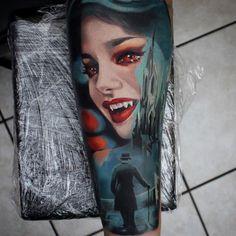 Vampire tattoo by Moni Marino