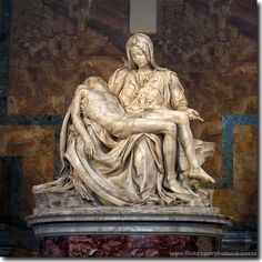 In this sculpture, Michelangelo really brings out his amazingness in sculpting. He created the virgin Mary holding Jesus after he had been hung on the cross and died.
