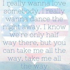 Love Somebody - Maroon 5. Listening to that right now