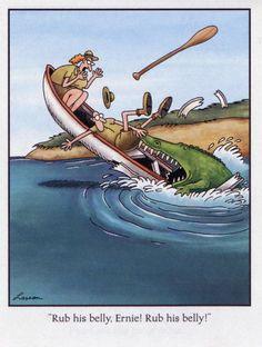 I am a big fan of the Far Side cartoons. Gary Larson Comics, Gary Larson Cartoons, Far Side Cartoons, Far Side Comics, The Far Side Gallery, Funny Vintage Ads, Vintage Comics, Gary Larson Far Side, Funny Cartoon Memes