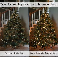 How to Put Christmas Lights on a Christmas Tree