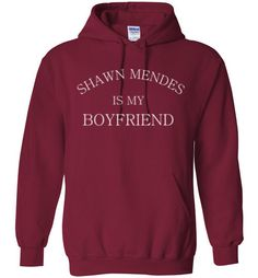 Shawn Mendes is my Boyfriend Hoodie by Tshirt Unicorn. Generous fit. Soft, sturdy, easy to move around in, all the while looking good. Air Jet Spun Yarn. Double-needle stitching. Set-in sleeves. 1x1 A