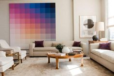 Create a Color Gradient With Ombre Design –– Lots of ideas to make your home look a little more colorful