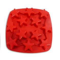 Silicone Molds for Making Christmas Star Ice Cubes Cakes Candy Chocolate & Candle Crafts, 12-cavity, Single Red - http://bestchocolateshop.com/silicone-molds-for-making-christmas-star-ice-cubes-cakes-candy-chocolate-candle-crafts-12-cavity-single-red/