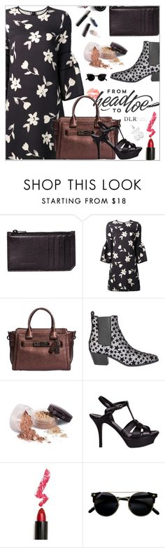 """DLRBOUTIQUE.COM"" by mirachu-1 ❤ liked on Polyvore featuring Yves Saint Laurent, Carolina Herrera, Coach, Laura Mercier, Lime Crime and TOUS"