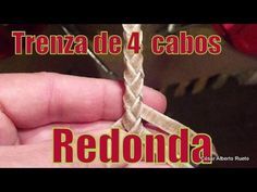 Four Strand Round Braid - ideas hermosas y diferentes Rope Knots, Macrame Knots, Macrame Bracelets, Leather Art, Braided Leather, Leather Tooling, Diy Leather Bracelet, Leather Jewelry, Hobby Kits