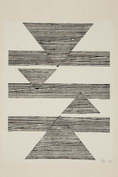 germinadodealfalfa: Lygia Pape Sem título: Tecelar (Untitled: Weaving) 1956 Woodcut on Japanese paper.