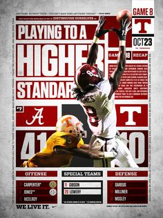 Julio Jones and Alabama 41 Tennessee 10 October 23, 2010 game recap graphic from…