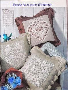 Todo crochet: Me encantan estos almohadones