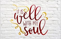 It is well with my soul vinyl sticky