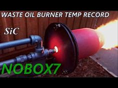 Silicon Carbide Waste oil burner Temp Record Broken - YouTube