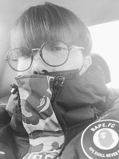 BTS Jhope black and white