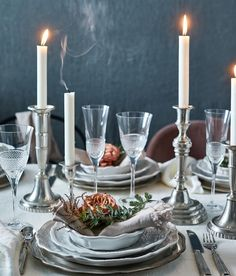 New Year's Eve by Sköna hem Tack, Table Settings, Candles, Hem, Instagram, Place Settings, Candy, Candle Sticks, Tablescapes