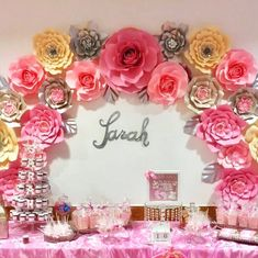 Sam, a Germany based client, put together this gorgeous pink dessert table incorporating the flowers she made from my templates. It feels so good to know you're helping other woman in their own business even continent away from one another. Proud of her.