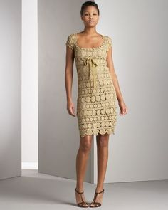 Golden Coin dress, this time with some diagrams and close ups