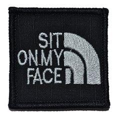 Sit On My Face Parody 2x2 Military Patch / Morale Patch - Black, http://www.amazon.com/dp/B00NB5TJ4O/ref=cm_sw_r_pi_awdm_7G4dub06DANDH