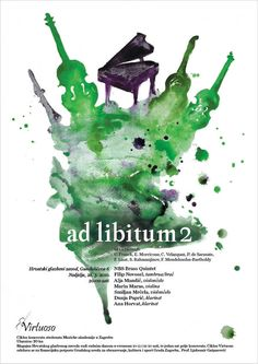 VIRTUOSO, classical music posters by Laura Bosazzi, via Behance