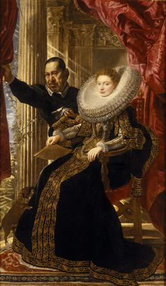 Peter Paul Rubens (1577 – 1640) Portrait of Maria Grimaldi and her dwarf, Rubens, Bankes Collection